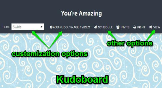 customize kudoboard