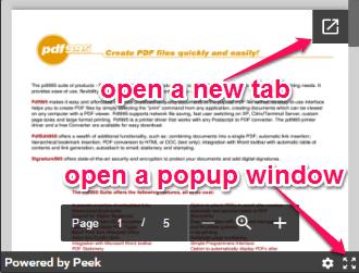 expand popup windowe