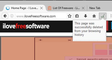 remove browsing history