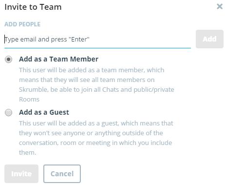 invite team member