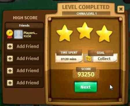mahjong journey level up