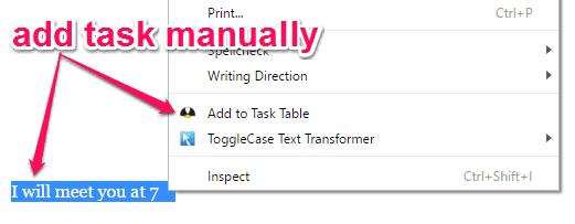 manually add task