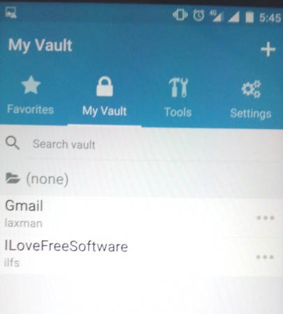 my vault on android app