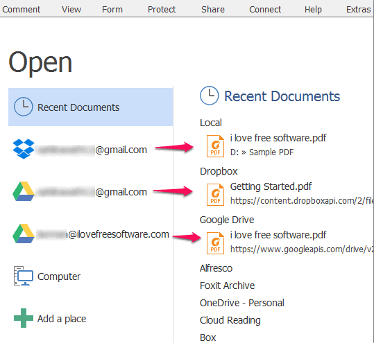 open pdf files directly from google drive, dropbox, etc