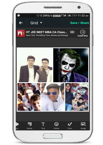 create Facebook photo collage- Photo Grid