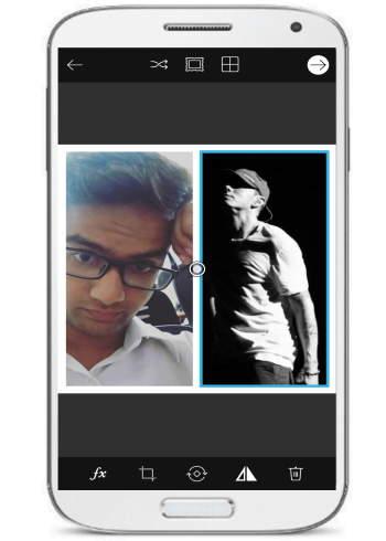 create Facebook photo collage- Pics Art