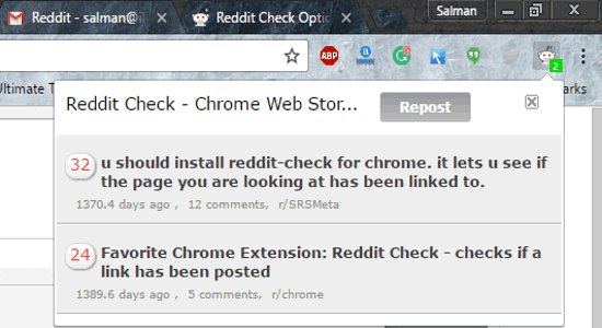 reddit chrome extension