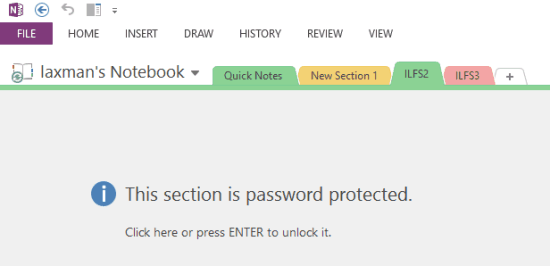 section is password protected