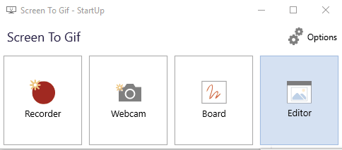 select Editor menu