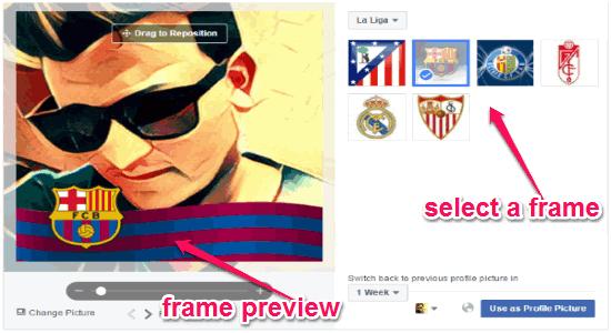 select a frame