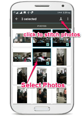 select photos