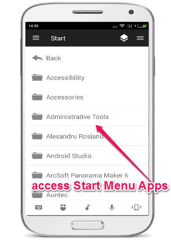 start menu applications