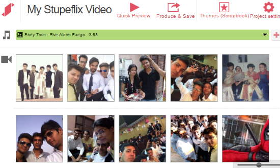create videos from Facebook photos- stupeflix