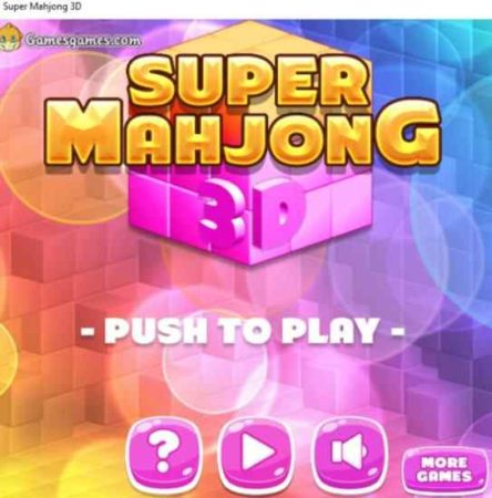 super mahjong 3d home