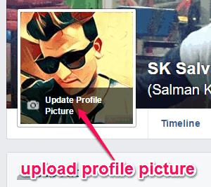 upload profile pic