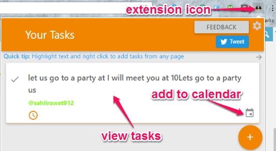 view tasks