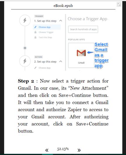 webpage saved as ePub