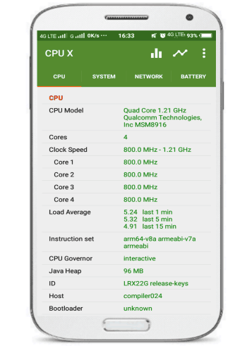 5 Android Apps To View Android System Info- CPU X