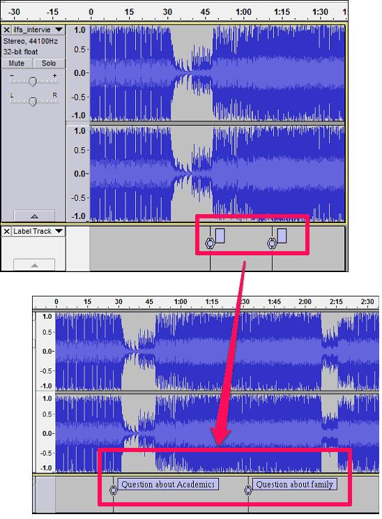 Audio bookmarks lebel editing