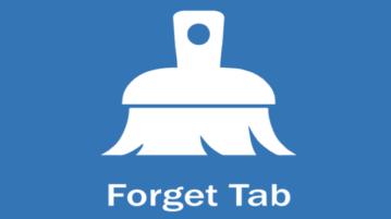Forget Tab Firefox add-on