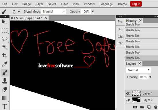 Free Online Image Editor To Edit PSD And XCF Files: Photopea