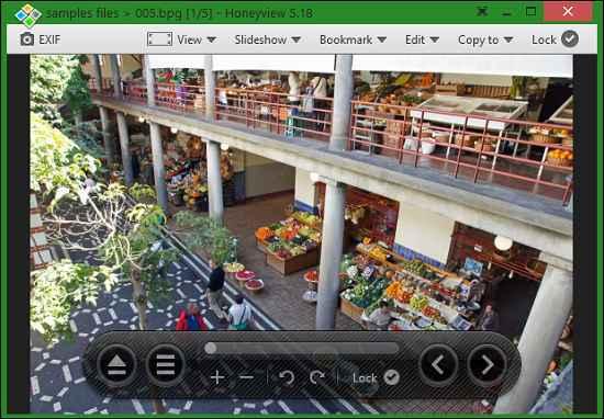 honeyview UI