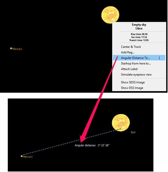 kstars calculating distance