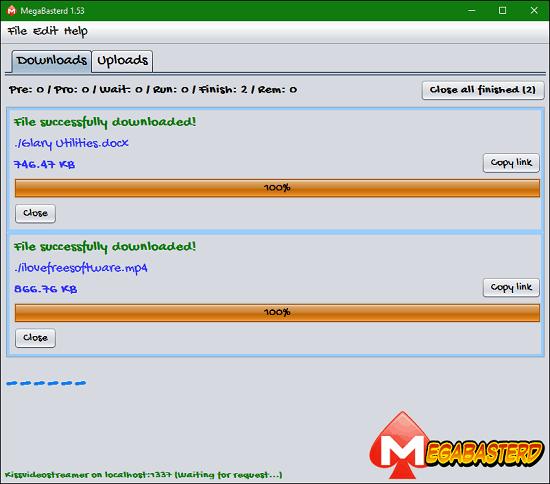 Free Mega Desktop Clients to Download, Upload Files to MEGA