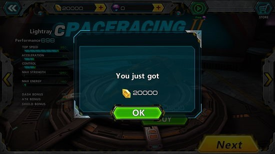 Space Racing 2 race rewards