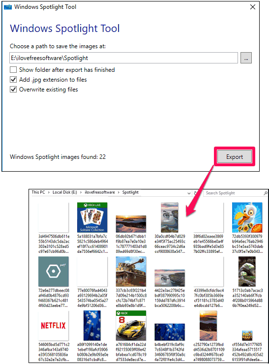 Windows Spotlight Tool Save Windows Spotlight Images to a Folder