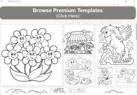 abstract coloring book pages