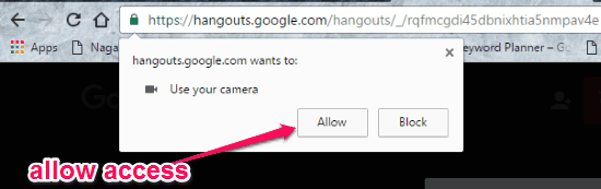allow camera