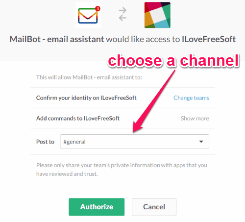 authorize mailbot