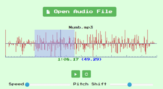Change Audio Speed, Pitch Without Affecting Real Pitch Online