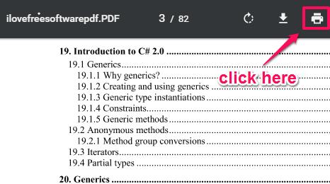 click print option
