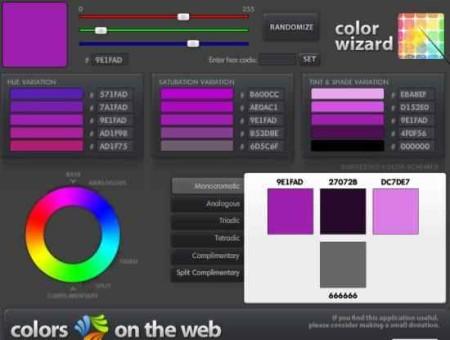 color scheme colors on the web