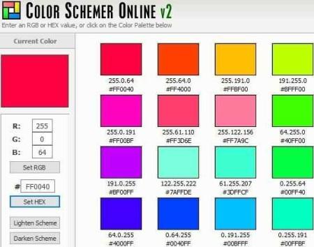 color scheme colorschemer