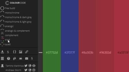 color scheme colourcode