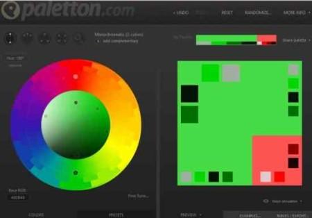 color scheme paletton