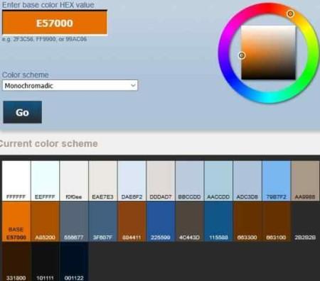 color scheme perbang