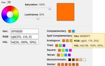 color scheme rapid tables