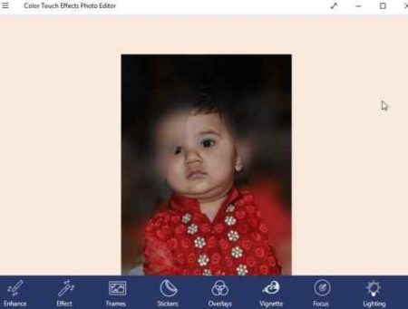 color touch effects photo editor blur