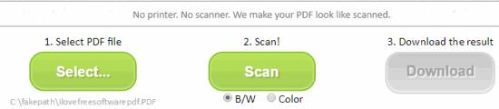 convert a single page pdf to searchable pdf
