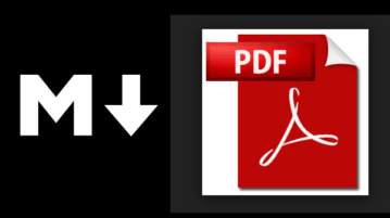 create markdown from pdf