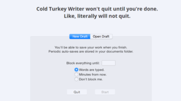 distraction free writer