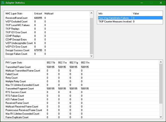 dot11Expert network adapter properties
