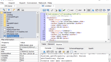 cross-platform XML Editor software: XML Spear