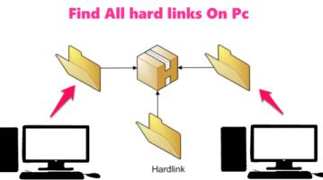 find hard links pc