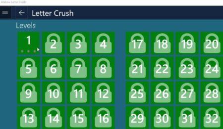 letter crush levels