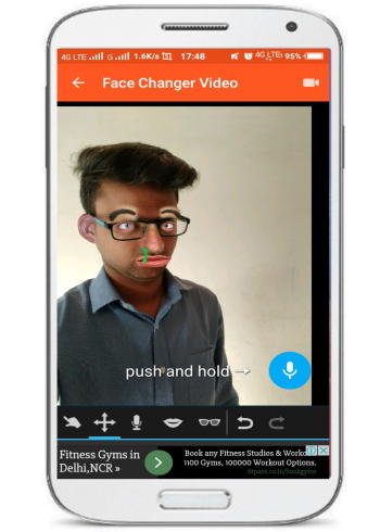Create animated face videos on Android: Face Changer Video